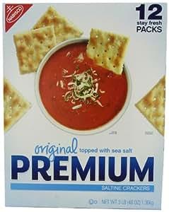 Nabisco Original Premium Saltine Crackers Topped with Sea Salt, 3 Pound