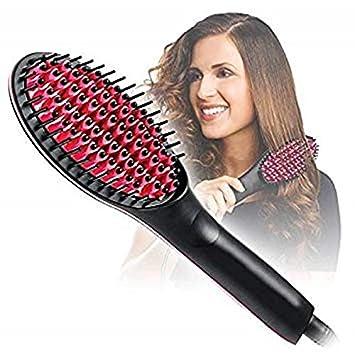 Portable Ceramic Temperature LCD Electric Hair Straightener Brush Comb
