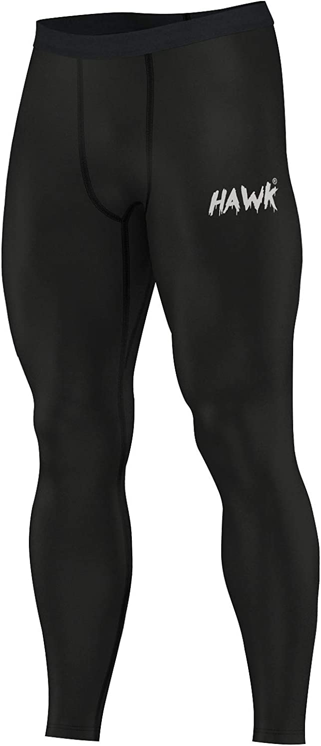 Hawk Sports Mens Compression Pants Base Layer Running Workout Muay Thai Jiu Jitsu MMA BJJ Spats Leggings Tights for Men