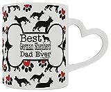 German Shepherd Gift Best German Shepherd Dad Ever Canine Dog Owner Heart Handle Gift Coffee Mug Tea Cup Heart Handle