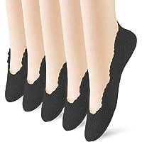 No Show Socks Women's Ultra Low Cut Liner Socks Non Slip Hidden Ankle Socks Invisible Boat Socks 5 Pairs