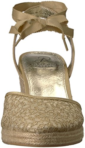 Adrianna Papell Women's Pamela Wedge Sandal Gold Valencia Lace shipping discount authentic get to buy sale online KLbQyUOAC6