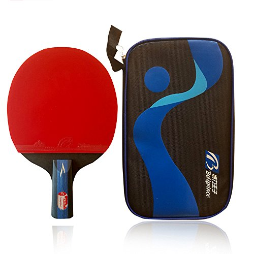 Boliprince Professional Five Plies Carbon Fiber Table Tennis Paddle Chinese Ping Pong Racket (Penhold)