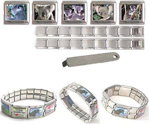 Koala Bear 18mm Mega Stainless Steel Italian Charms Bracelet