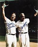 Mickey Mantle & Joe Dimaggio reprint 8x10 Photo New York Yankees - Mint Condition