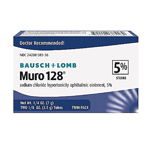 MURO 128 5 Percent 0.0 TWIN PACK 2X1/8 OZ by BAUSCH & LOMB PHARM ***