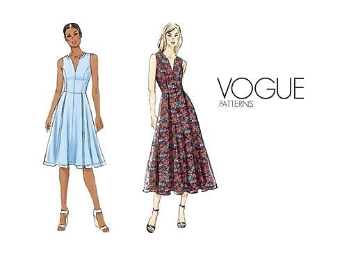 Vogue sehr einfach Schnittmuster 8993 Petite Kleid Größen: 16–18–20 ...