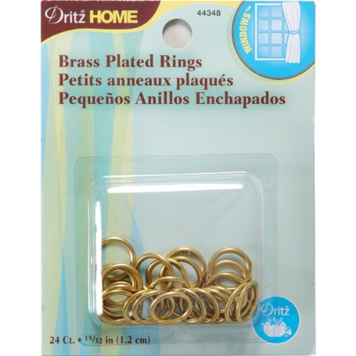 ated Rings, 15/32-Inch, 24-Pack (Brass Plated Latch)
