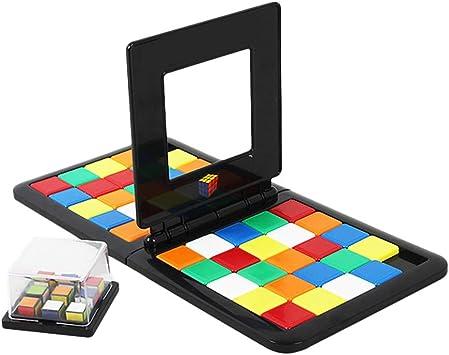 FuYouTa Magic Block Game Battle Cube Race Rubikes Race Juego de Mesa de Rompecabezas Colorido para niños Juego de Mesa Interactivo de Rompecabezas para Padres e Hijos Juguetes para niños Regalos: Amazon.es:
