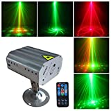 Party Lights DJ Disco Stage Lights Sbolight Led Projector Karaoke Strobe Perform for Stage Lighting with Remote Control for Dancing Thanksgiving KTV Bar Birthday Outdoor