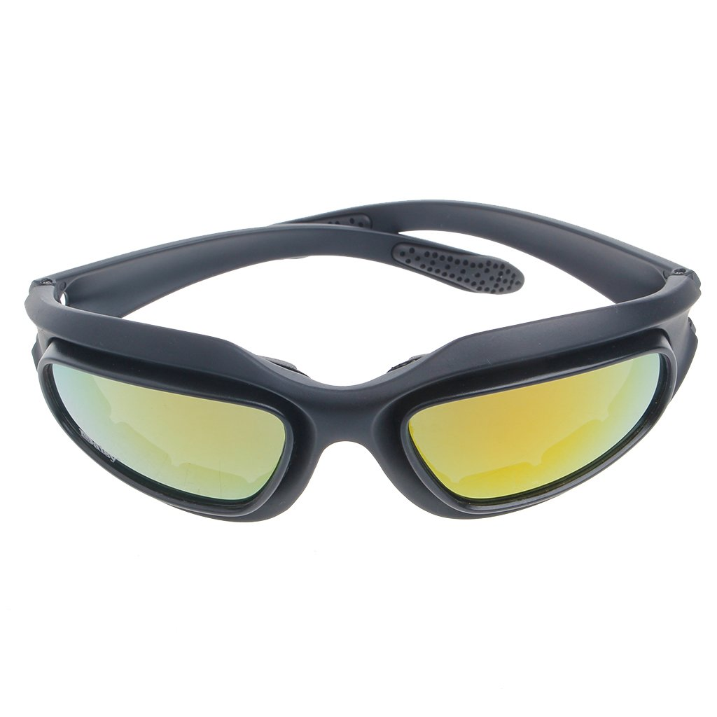 f7384528ebf Amazon.com   Amrka Windproof Polarized Motorcycle Lens Sun Glasses Riding  Cycling Biker Sports Wrap   Sports   Outdoors