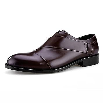 ebe046b6081e Homme Classique Commercial Leather Chaussures en Cuir pour Hommes  Confortable personnalité Pointue Style Britannique Homme Cuir