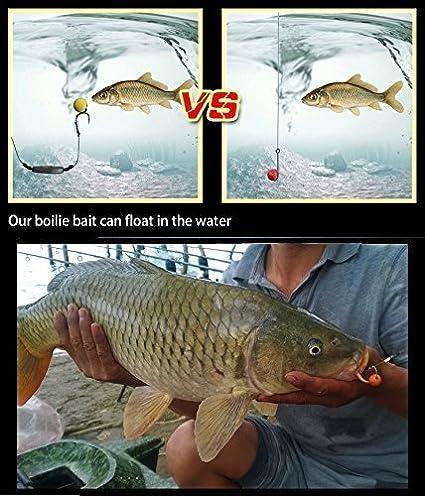30 Pcs//Bo/îte 12mm de Diam/ètre Bouillettes Flottantes de la P/êche /à la Carpe Appt de P/êche de la Carpe Carp Fishing Boilie Bait