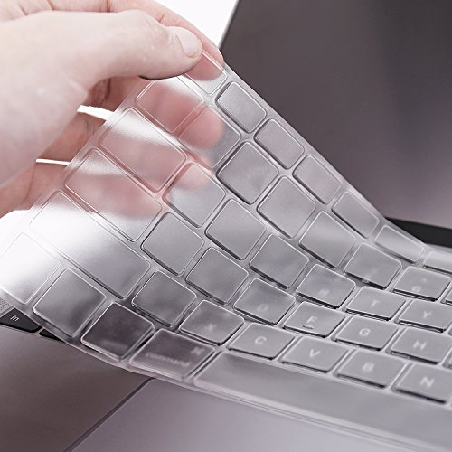 """Ultra Thin Crystal Thermoplastic Keyboard Cover for Macbook Air 13, 2015 or older Macbook Pro 13"""" 15""""(2012-2015 model) , iMac Wireless Keyboard (Extreme Thin) Plastic Keyboard"""