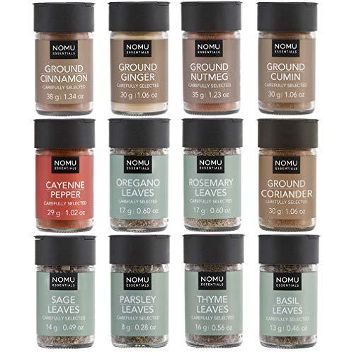 NOMU Essentials 12-Piece Herbs & Spices Starter Set Range | Non-irradiated, No MSG or Preservatives]()