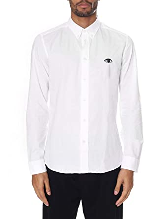 9215690ab1f7 Kenzo Mens Eye Crest Slim Fit White Shirt at Amazon Men's Clothing ...