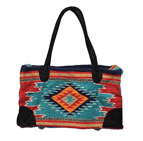 Weekender Travel Bag Fully Lined Suede Handles Southwest Design K