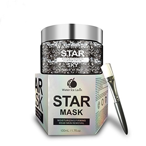 Water Ice Levin New Star Mask glitter acne mask,Moisturizing Deep Cleaning Pore, Make the Face Shiny Firming Anti-wrinkle ,Peel Off Facial Face Masks Oil control Masks(100G)