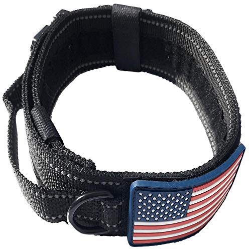 DOG COLLAR WITH CONTROL HANDLE QUICK RELEASE METAL COBRA BUC
