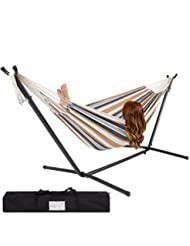 Best Choice Products Double Hammock With Space Saving Steel S...