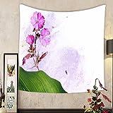 Madeleine Ellis Custom tapestry colorful illustration with floral elements useful design element