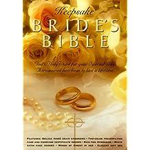 King James Version-Keepsake-Bride-Bonded Leather-White/Gold