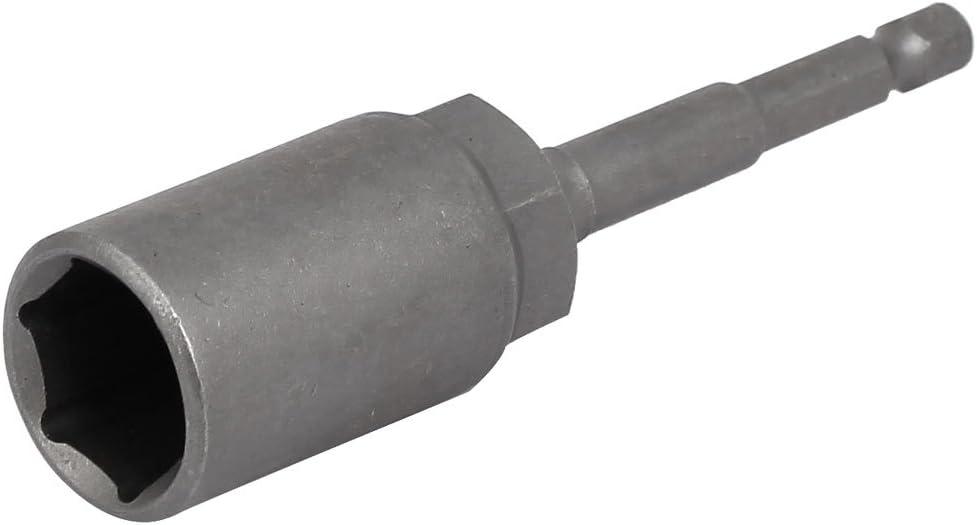 "17mm Socket 1//4/"" Hex Shank 100mm Length Nut Drivers Adapter Drill Bit Gray"