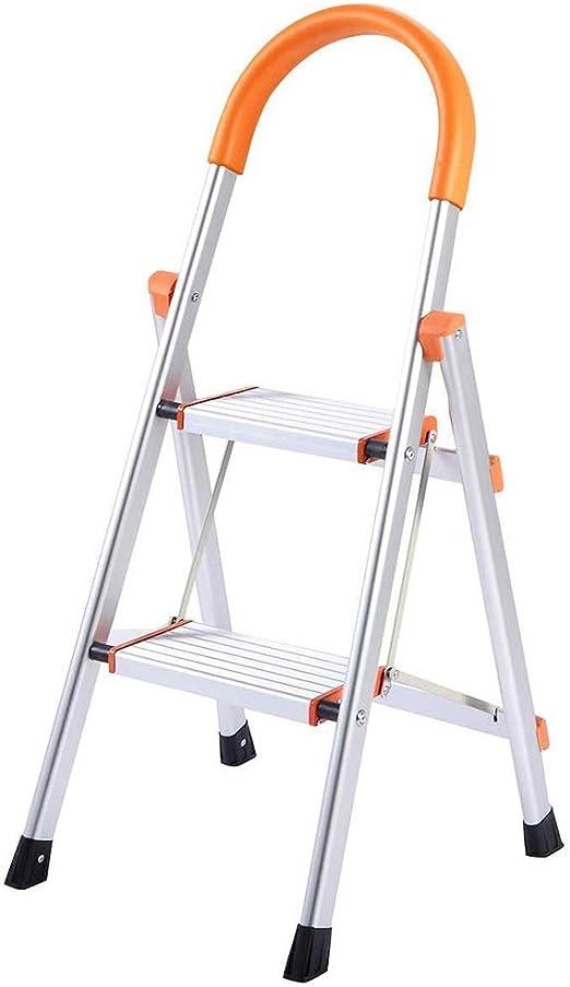 Gplveoq Escalera de Aluminio Ligera de Dos peldaños, Escalera de Aluminio Antideslizante de 2 Pasos, Taburete de Carga máxima de 330.69 LB, Silla Cottage: Amazon.es: Hogar