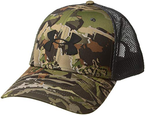 (Under Armour Men's Camo Mesh Cap 2.0, Ua Forest Camo (940)/Black, One Size)