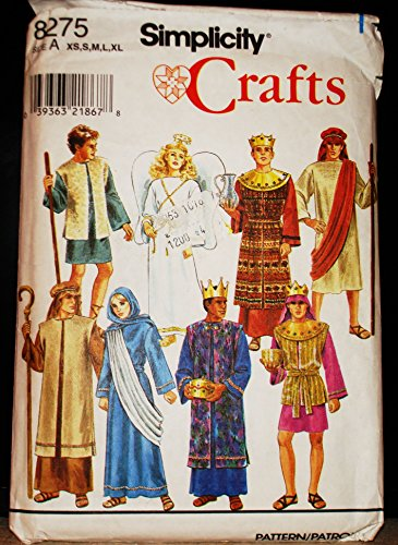 Joseph Costume For Christmas Play (Simplicity 8275 Sewing Pattern Nativity Costumes King Shepherd Joseph Mary)