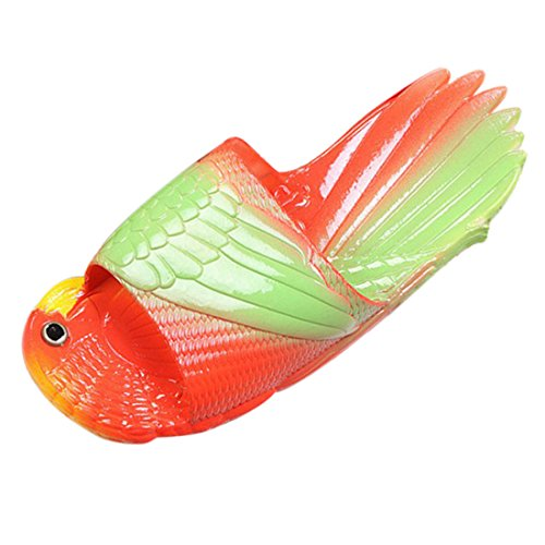 Unisex Shape Fish CARE YUENA Sandals Shower Green Bathroom Slippers red wtf4qTa