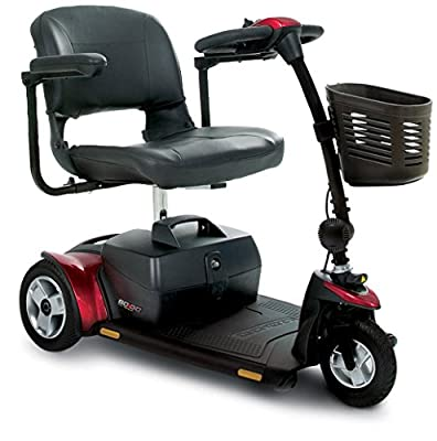 Pride Go-Go Elite Traveller Plus 3-Wheel Scooter Incl 5 Year Ext Warr Incl battery Pack