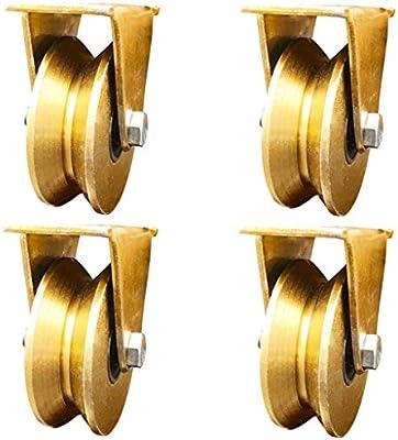 GONGFF Paquete de 4 Ruedas 1.2 Pulgadas Tipo V polea Pista ...