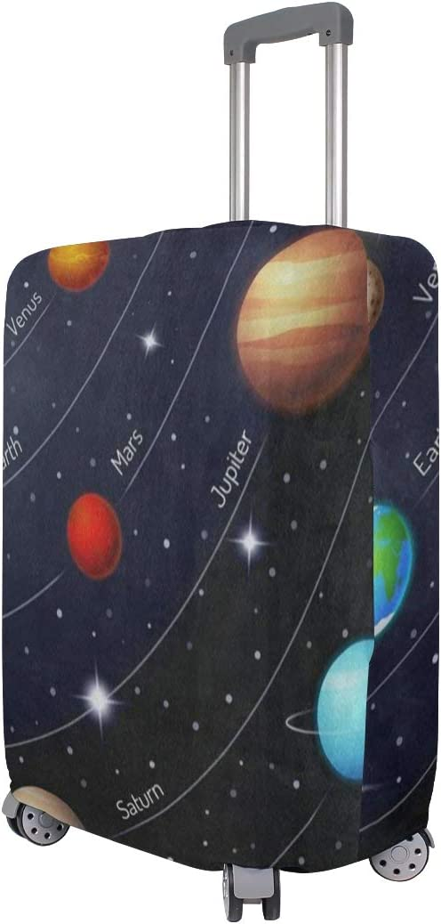 Suitcase Cover Cool Solar System In Outer Space Luggage Cover Travel Case Bag Protector for Kid Girls