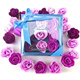 Purple Rose bath bombs, nine charming Rose flower bath bombs,  great for mom,.