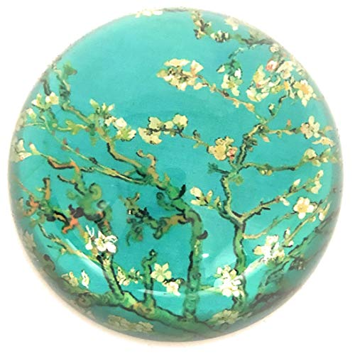Value Arts Van Gogh Almond Blossoms Glass Dome Paperweight, 3 Inches Diameter