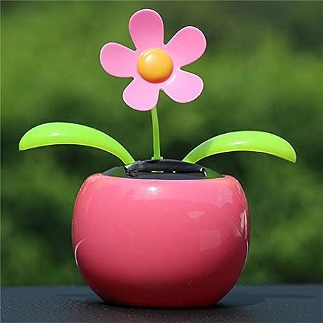 Fiore Rosa B Blesiya Giocattolo di Danza Solare Alimentato Decorazione Auto Giorno Felice