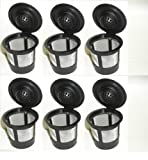 Generic 6 x Solo Coffee Pod Filters Compatible with Keurig K cup coffee system--Reusable Coffee Filter (DESIGN 1, 1)