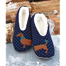 Sherpa-Lined Critter Slippers (Dog M/L 8.5-10)