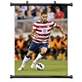 "Clint Dempsey Team USA Soccer Star Fabric Wall Scroll Poster (16"" x 24"") Inches"