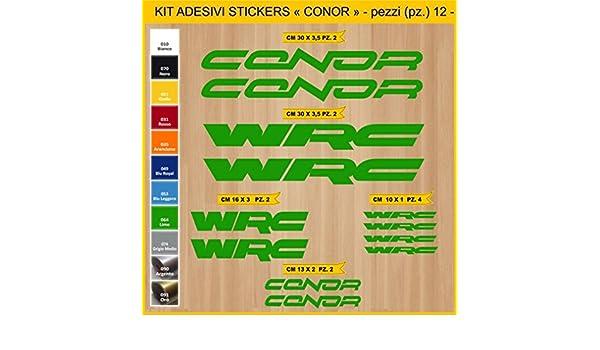 Kit Pegatinas Stickers Bicicleta Conor -12 Piezas- Bike Cycle Cod ...
