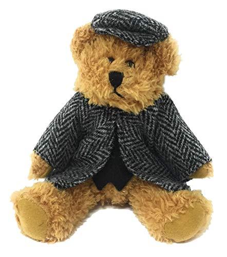 - Harris Tweed Black Herringbone Dressed Scruffy Boy Bear