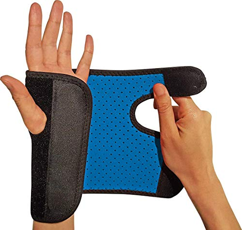 RiptGear Wrist Brace for Women and Men - Adjustable Support with Removable Splint - Wrist Sprains, Carpal Tunnel Syndrome, Tendonitis - Reinforced Construction - Wrist Brace Right Hand - Syndrome Carpal Splints Tunnel