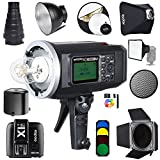 Godox AD600BM Bowens Mount 600Ws GN87 1/8000 HSS Outdoor Flash Strobe Monolight with X1T-F Wireless Trigger Transmitter for Fuji /32''X32'' Softbox/Standard Reflector&Grid/32'' Reflector/Barn Door/Snoot