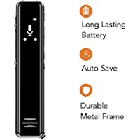 Voice Recorder with Noise Reduction, with Voice Activated, 16GB 1536Kbps Support for Voice Converted Text for Lectures, Meetings, Interviews