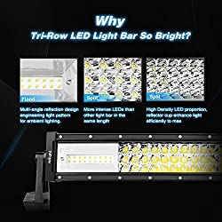 LED Light Bar Nilight 22Inch 270W Triple Row 27000