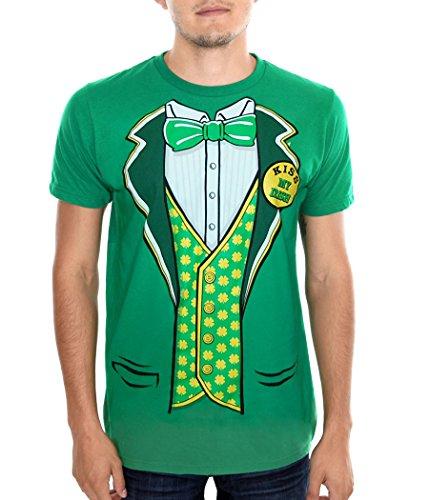 Animation Shops St. Patrick's Day Tuxedo Leprechaun Costume T-Shirt-X-Large ()