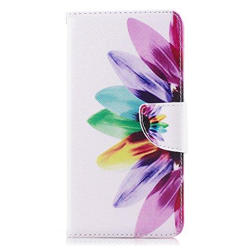 pour portefeuille 5 magnétique avec OnePlus fente d'impression Flowers 1 Flip fermeture en aérosol peint avec cas protection de cuir étui conception en carte Hozor PU 5 support PgnTw5qq