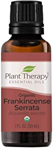 Plant Therapy Organic Frankincense Serrata Essential Oil 100% Pure, USDA Certified Organic, Undiluted, Natural Aromatherapy, Therapeutic Grade 30 mL (1 oz)