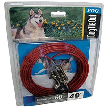 Boss Pet Products Q3540 SPG 99 Cable Dog Tie Out 40 Large